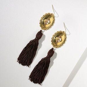 Vanessa Mooney - THE GOLD CONCHO TASSEL EARRINGS